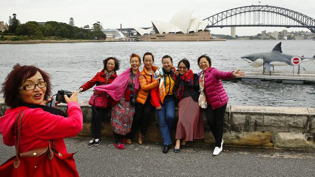 Chinese tourists bring in big money to Australia — spending $7.7 billion a year. Picture: Bradley Hunter