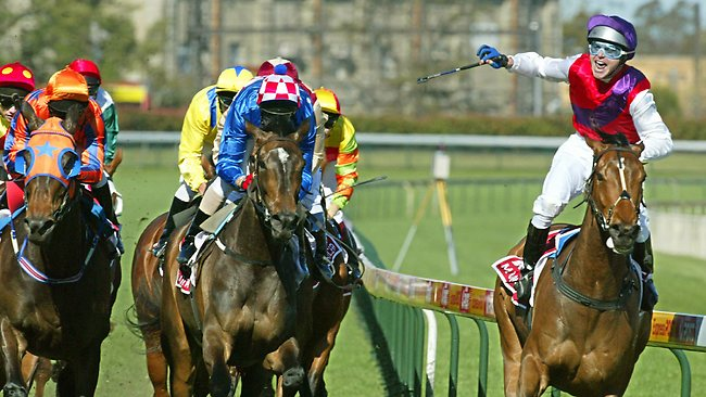 Danny Nikolic's latest setback comes on the eve of one of his greatest triumphs when he won the 2003 Caulfield Cup on Mummify. Picture: Jay Town