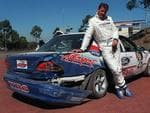 <p>Football personality Sam Newman crashed a car into a wall at Calder Park in 1998 Picture: Herald Sun Image Library</p>