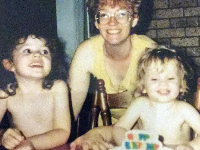 Rebecca, pictured left with her mother Janet and sister Jessica, recalls every birthday since her first. Picture: PA Real Life