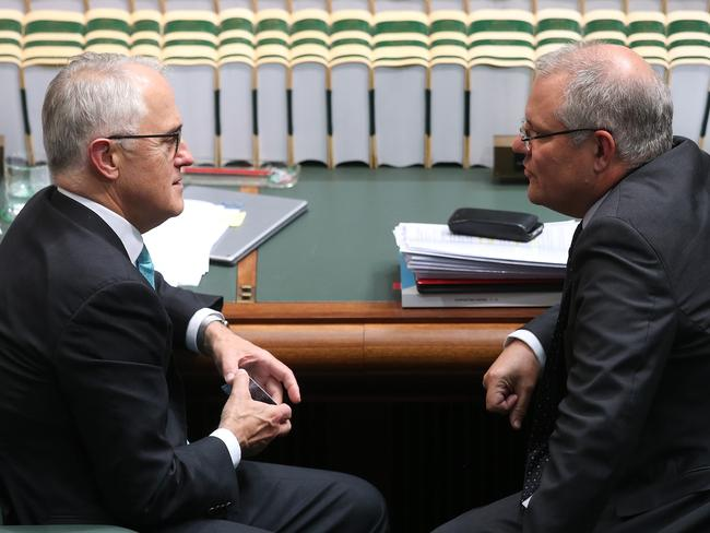 PM Malcolm Turnbull and Treasurer Scott Morrison are feeling the heat over calls for a royal commission into banks. Picture: Kym Smith