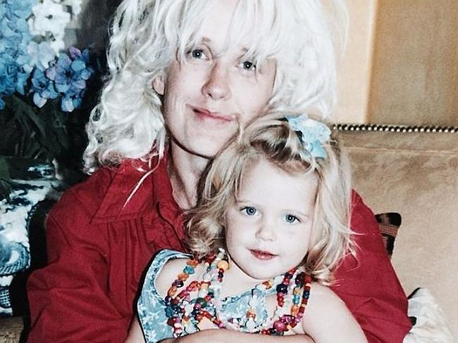 Peaches Gelodof posted this picture on Instagram a week before she passed away of herself as a child with mum, Paula Yates.