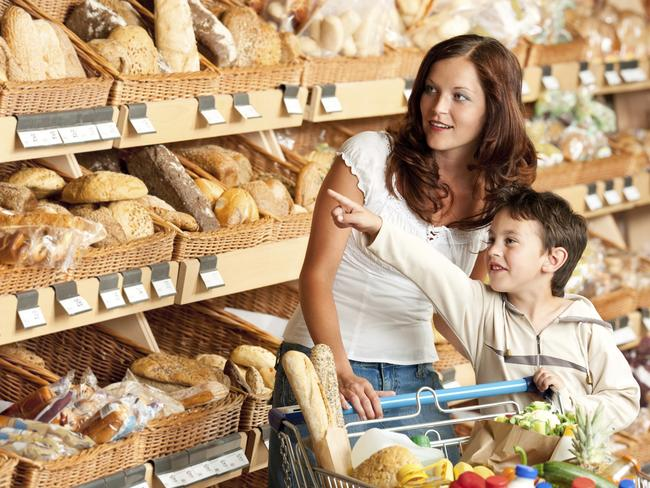 Taking children on trips to the supermarket can help educate them about the costs of everyday expenses.