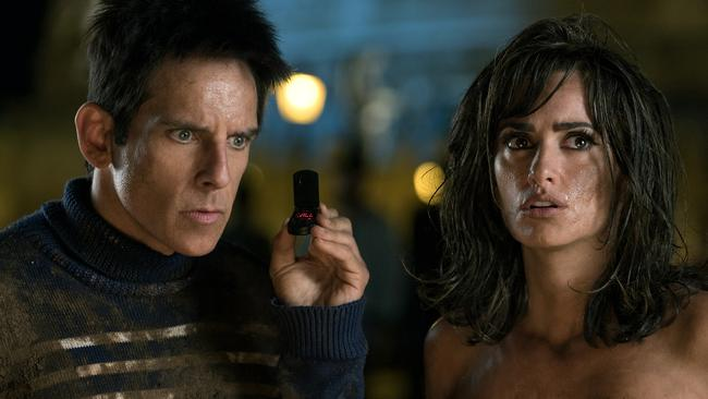 Ben Stiller plays Derek Zoolander and Penélope Cruz plays Valentina Valencia in Zoolander 2.
