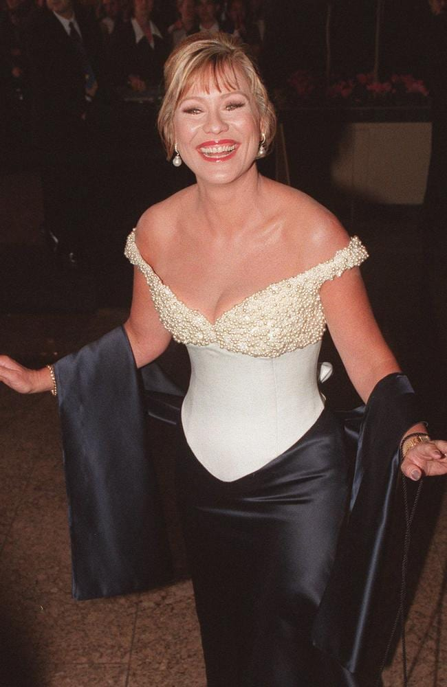 Kerri-Anne Kennerley at Melbourne's Crown Casino for the 1998 Logie Awards.