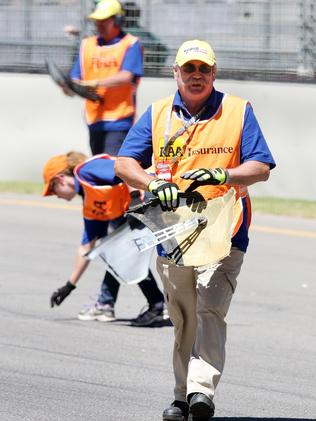 Marshalls clean-up during Adelaide's Clipsal 500 event.