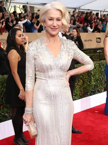 Helen Mirren on the red carpet. Picture: John Salangsang/Invision/AP