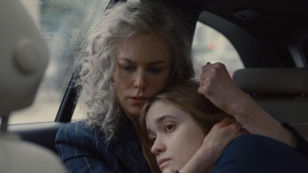 Nicole Kidman and Alice Englert in a scene from season two of the TV series Top Of The Lake.