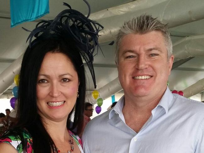 Julie Singleton and Stuart MacGill at the Coonawarra Vignerons Cup.