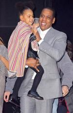 Beyonce and Jay-Z, along with their daughter Blue Ivy Carter are looking like a healthy, happy family as they leave the premiere of 'Annie' held at the Ziegfeld Theatre. in 2014. Picture by: AKM-GSI / Splash News