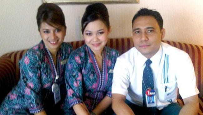 Innocent lives lost ... flight attendants Angeline Premila and Shazana Salleh would have most likely been collecting dinner trays when the plane was hit.