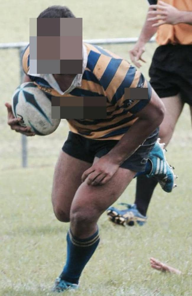 Joseph's uncle (above) still plays rugby and said they had hoped the little boy would turn out to be a rugby player.