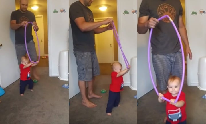 This dad's hack for teaching a bub how to walk? So smart.