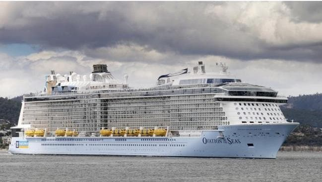 Cruise Ship Ovation Of The Seas Visits Brisbane  The