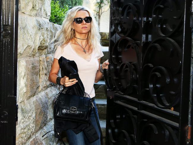 Danielle Spencer at the Rose Bay house after her nine-year marriage with Crowe ended.