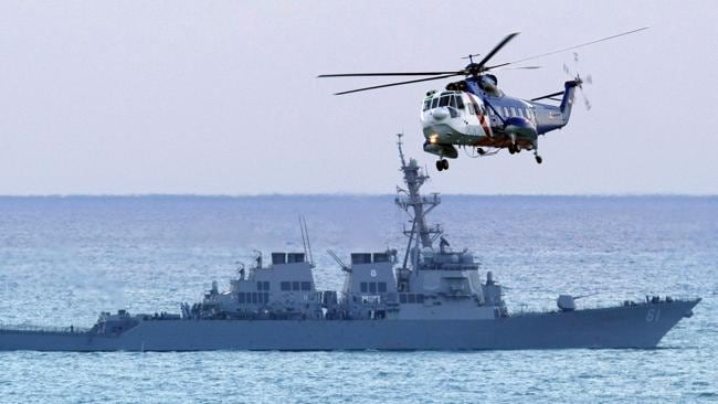 War preparations? Warplanes have been spotted near Cyprus. Above, a file photo of the US Navy. Picture: AP