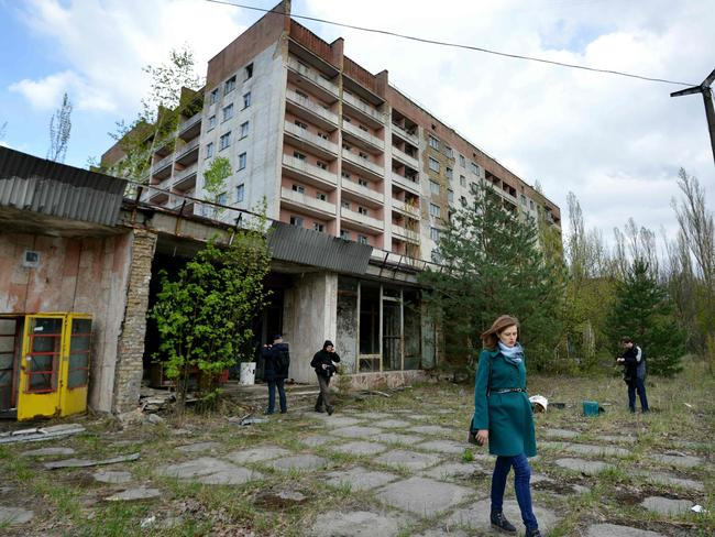 The area is still subject to a huge exclusion zone which has turned Pripyat near the Chernobyl plant into a ghost town. Picture: AFP PHOTO / GENYA SAVILOV