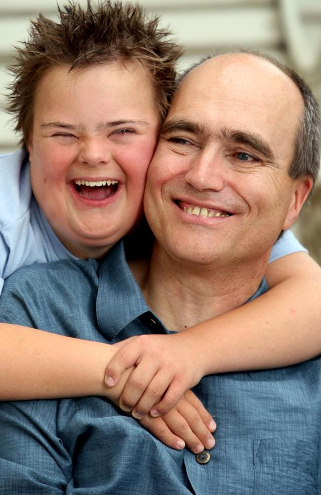 Dr Bernhard Moeller, pictured at his clinic in rural Victoria, was told he was not welcome in Australia because of his 13-year-old son Lukas has Down syndrome.