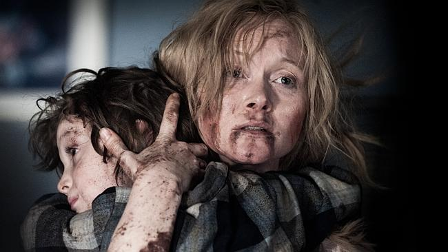 Essie Davis and Noah Wiseman in  <i>The Babadook</i>.