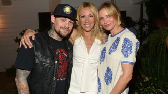 Love rumours .. Benji Madden, with author Vicky Vlachonis, is reportedly dating actor Cameron Diaz.