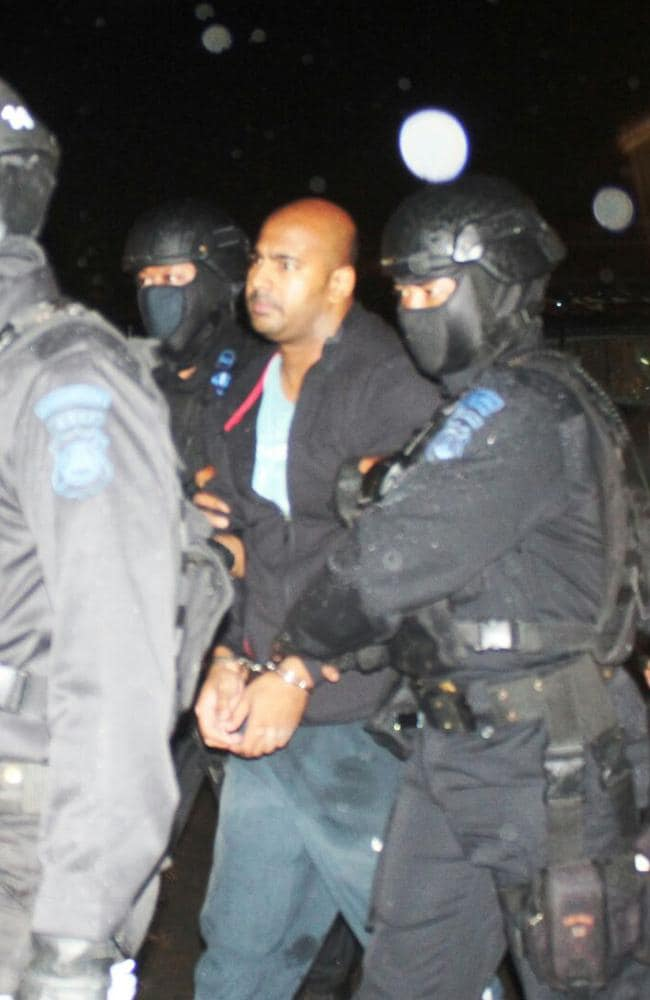 Myuran Sukumaran pictured on the airport tarmac before his final journey to central Java and 'Death Island'.