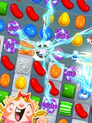 Gamers spend about 25 minutes a day playing games like Candy Crush Saga. Picture: Supplied