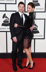 Nick Lachey and Vanessa Lachey attend The 58th GRAMMY Awards at Staples Center on February 15, 2016 in Los Angeles. Picture: Getty