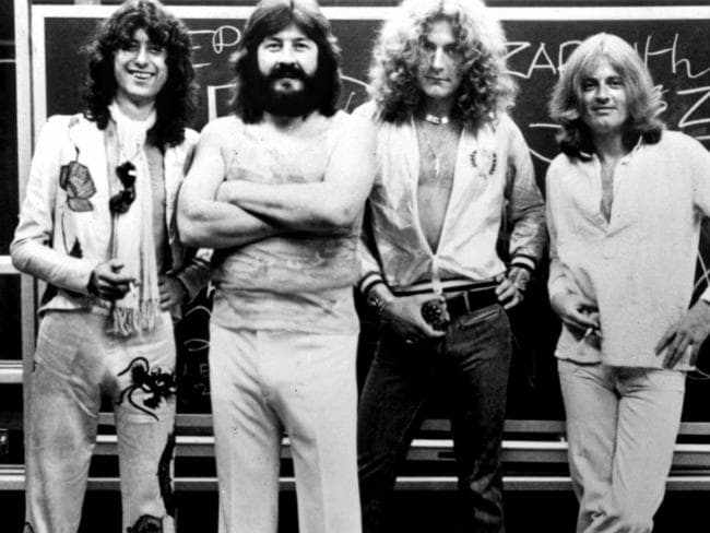 Iconic band ... Led Zeppelin from L-R Jimmy Page, John Bonham, Robert Plant and John Paul Jones.