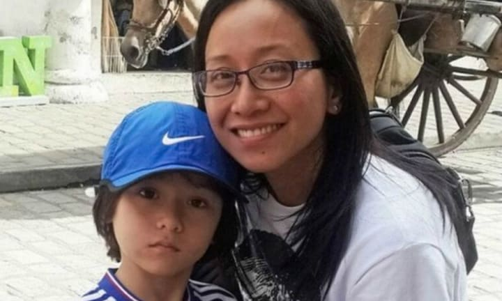 Devastating blow: Julian's mum will face years of surgery