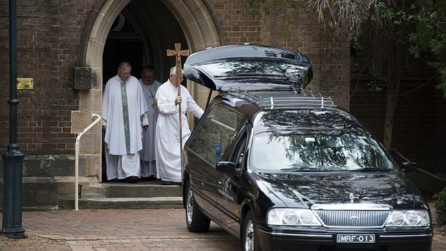 The funeral for Qantas pilot Andrew Lawler at St Paul's Catholic Church, Camden.