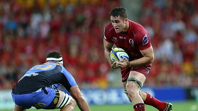 James Horwill in action for the Reds against the Western Force.