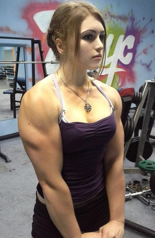 Julia Vins working out in the gym. Photo: News Dog Media.