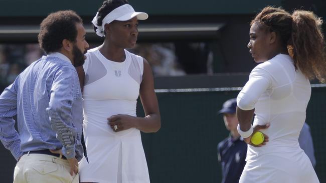 Umpire Kader Nouni questions whether Serena Williams is fit to play the match.