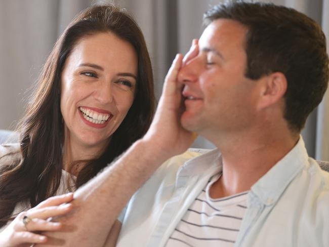 New Zealand Prime Minister Jacinda Ardern shocked the world when she announced she was pregnant during her first year in office. Her partner Clarke Gayford will be a stay-at-home dad. Picture: Doug Sherring/NZ Herald