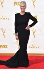 Jamie Lee Curtis attends the 67th Annual Primetime Emmy Awards in Los Angeles. Picture: AP