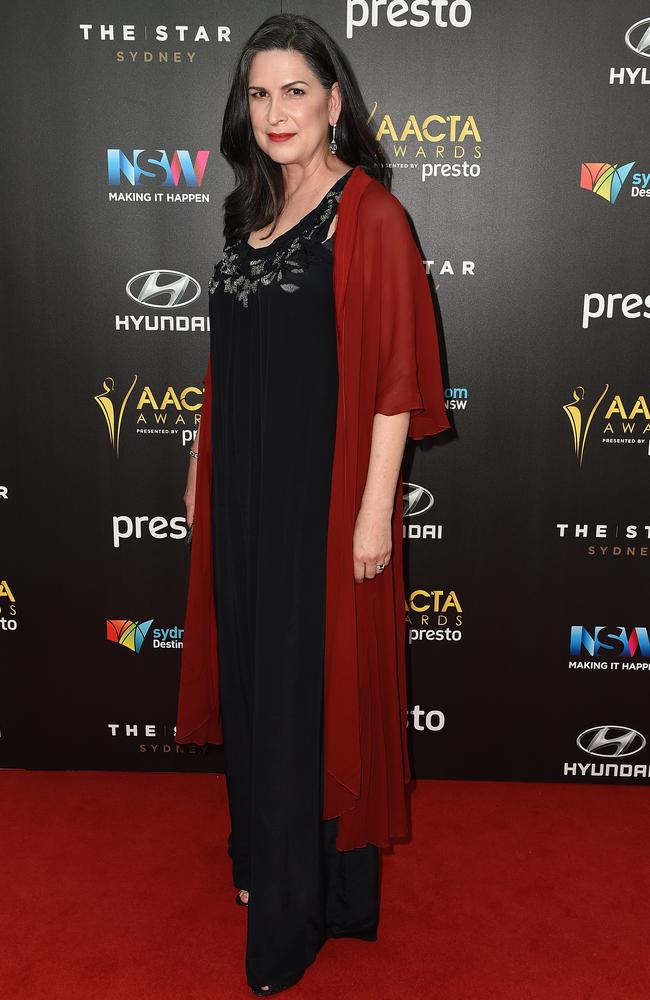 Pamela Rabe arrives ahead of the 5th AACTA Awards Presented by Presto at The Star on December 9, 2015 in Sydney, Australia. Picture: AAP
