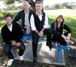 <p>Do-gooders ... Ian Thorpe with Peter Garrett, Jimmy Barnes and Sneaky Sound System's Daimon Downey to promote the Live Earth concert / Warren Clarke</p>