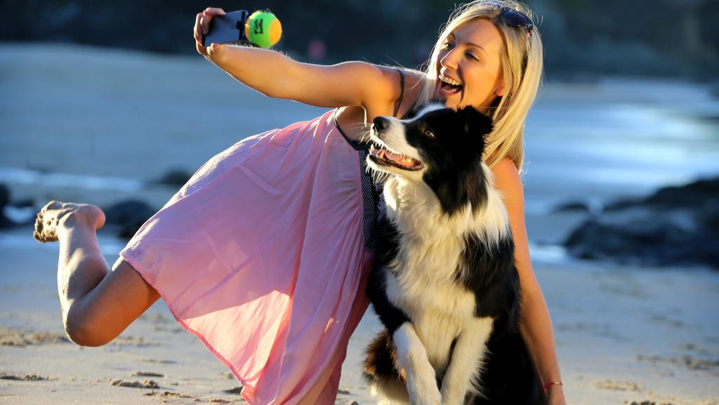 dog selfies easier with phone attachment that holds ball daily telegraph. Black Bedroom Furniture Sets. Home Design Ideas