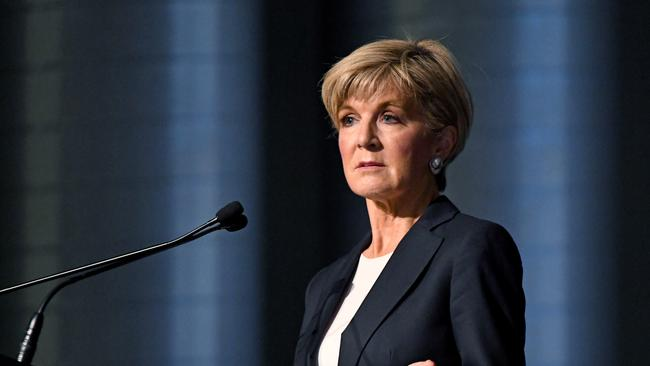 Foreign Minister and Deputy Leader Julie Bishop said the MP should talk to her. Source: AAP.