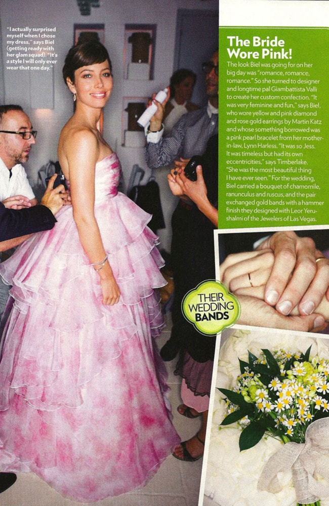 Justin Timberlake and Jessica Biel sold the exclusive rights to their wedding photos to People magazine. Photo: People