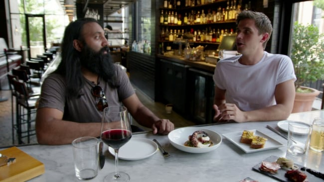 Neal and Antoni share a meal together. Photo: Netflix