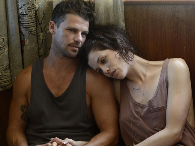 Jessica De Gouw and Nathan Phillips in a scene from  <i>These Final Hours</i>.