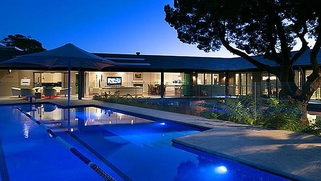 THE pool can be lit up at night. Picture: realestate.com.au