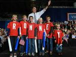 <p>Romney waves to supporters as he holds a rally in Des Moines, Iowa. Picture: AFP PHOTO/Emmanuel DUNAND</p>