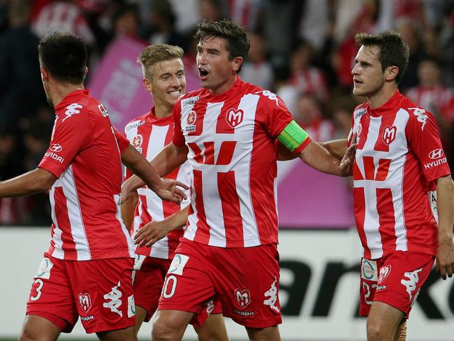 Heart's red and white stripes will be retained as Melbourne City's away uniform.