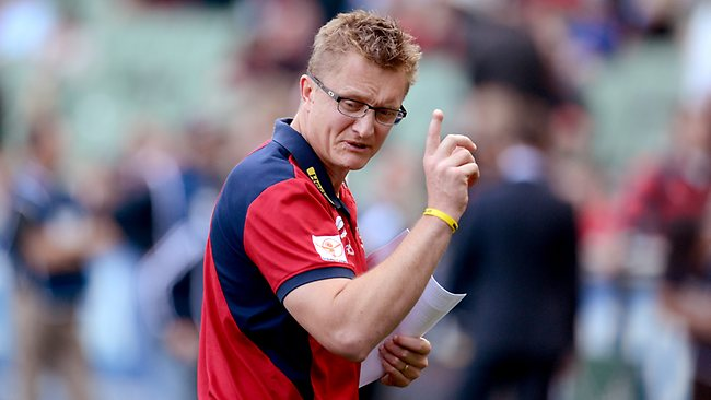 Mark Neeld can rest easy knowing his job is safe for at least another week Picture: Wayne Ludbey