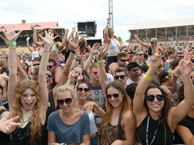 The crowd eats up the Future Music festival at the Wayville Showgrounds. Picture: Mark Brake