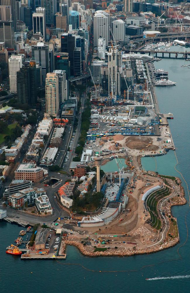 The construction site of Barangaroo / Picture: Toby Zerna