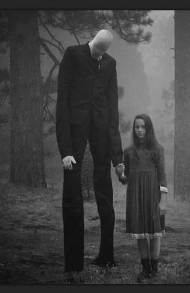 An artist's impression of Slenderman. Picture: Imgur
