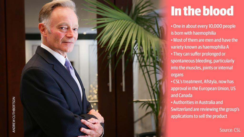 CSL's chief scientific officer Andrew Cuthbertson.
